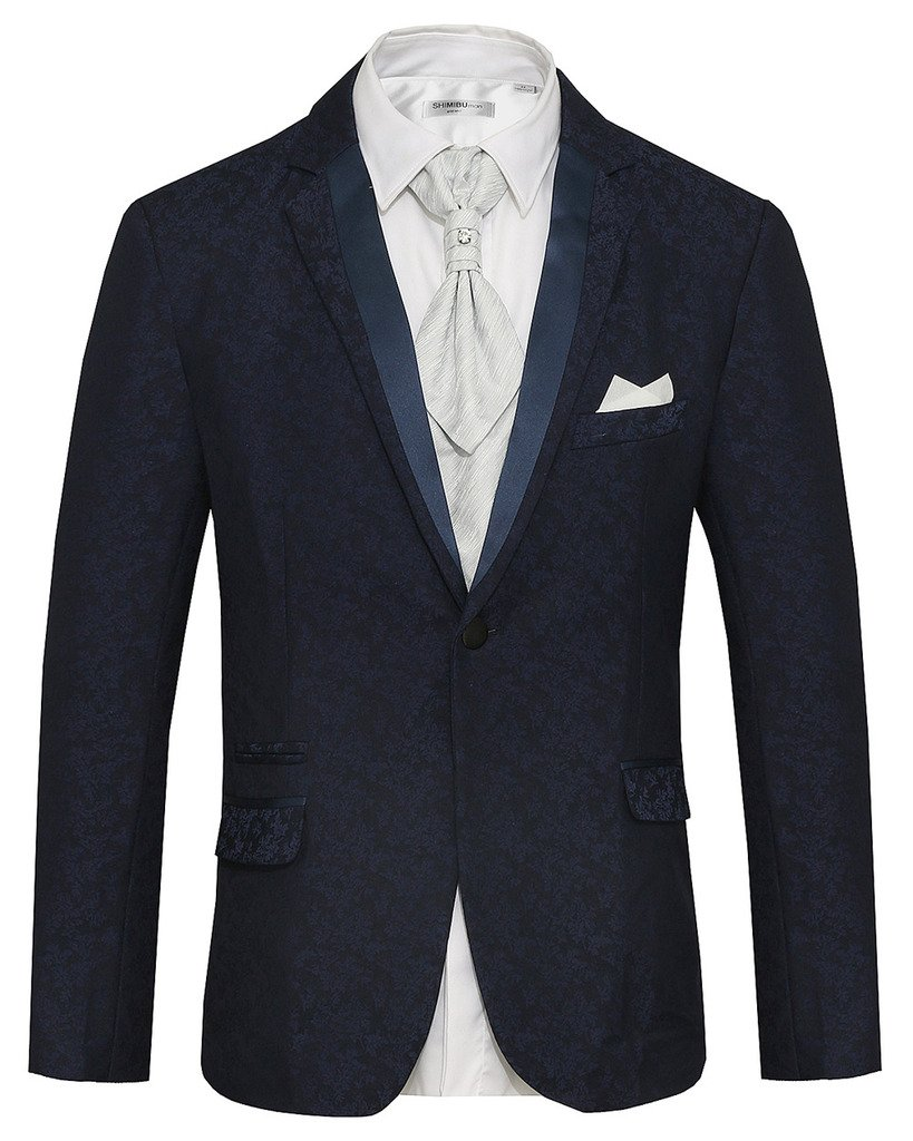 Hanayome Men's Dark Blue Exclusive Design 2017 Club Party Tuxedo Suit Blazer SI50 SI50-JKA1