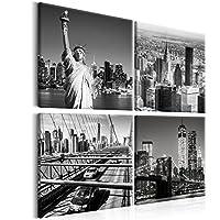 murando – Cuadro New York 80×80 cm – impresión de 4 Piezas en Material Tejido no Tejido – impresión artística – fotografía – Imagen gráfica – decoración de Pared – City Ciudad d-B-0176-b-i