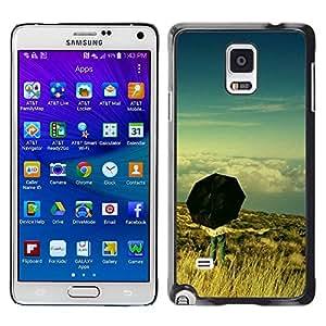Paccase / SLIM PC / Aliminium Casa Carcasa Funda Case Cover para - Umbrella Thought Deep Meaning Sky - Samsung Galaxy Note 4 SM-N910F SM-N910K SM-N910C SM-N910W8 SM-N910U SM-N910