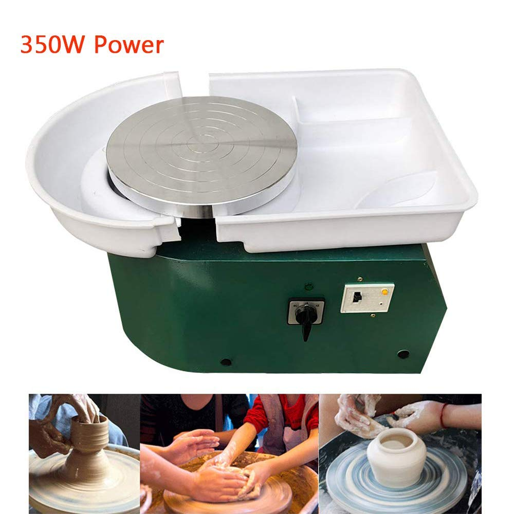 Pottery Wheel Electric Pottery Forming Machine DIY Pottery Artist Studio Easy Spin Pottery Wheel Machine for Ceramic Work Clay Art Craft Adults Kids for Fun 350W by GOLDEN ELEPHANT