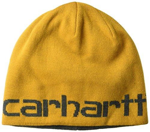 Carhartt Men's Greenfield Reversible Hat Heathered, Gold, OFA (Reversible Skully Hat)