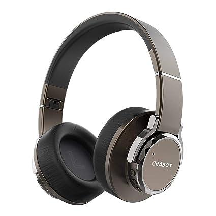 Auriculares Inalámbricos con Bluetooth Crabot Auriculares de Diadema Plegables con Micrófono de Alta Fidelidad con Graves