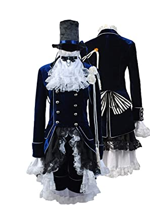 efa2aa186 Amazon.com  Ya-cos Halloween Black Butler Kuroshitsuji Ciel Phantomhive  Cosplay Costume Sets  Clothing
