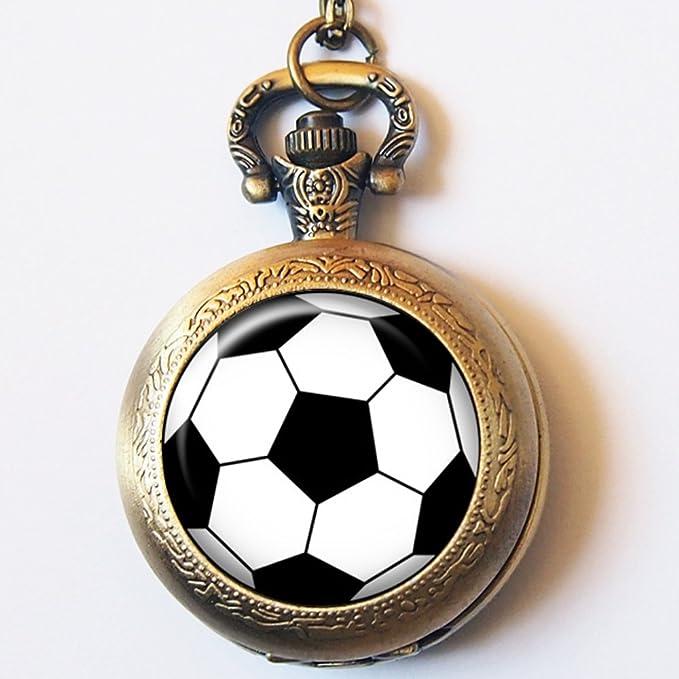Vintage balón de fútbol deporte reloj de bolsillo casestars mano ...
