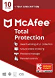 McAfee Total Protection 2020, 10 Device, Antivirus Internet Security Software, Password Manager, Parental Control…