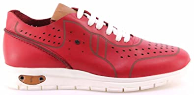 Roberto Serpentini Men s Shoes Sneakers Pelle Rossa Leather Red Comfort New e7743a99c0b