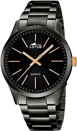 Lotus Reloj Analógico para Hombre de Cuarzo con Correa en Acero Inoxidable 18162/2: Amazon.es: Relojes