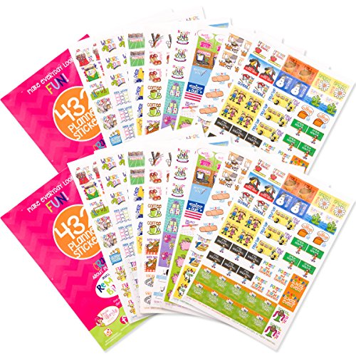 Set of Planner Event Stickers Bundled Variety Packs | 100s of Events | Choose Your Bundle (Busy Mom Stickers | Two ()