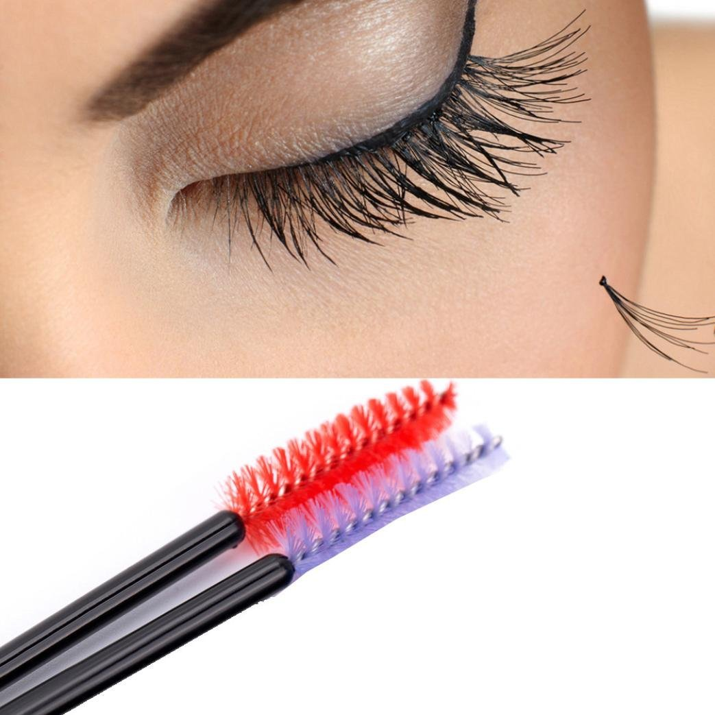 Amazon.com : YJYdada 100pcs/lot make up brush Pink synthetic fiber One-Off Disposable Eyelash Brush (pink) : Beauty