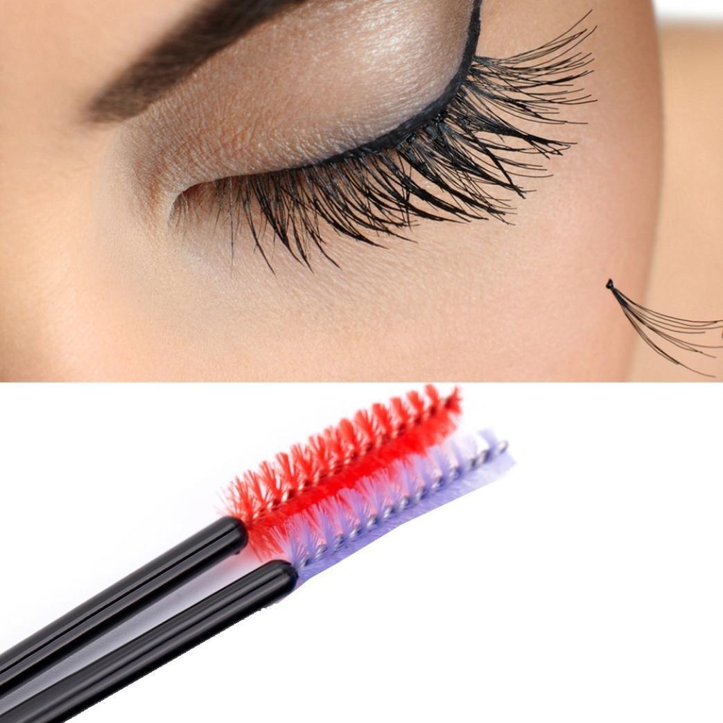 Amazon.com : YJYdada 100pcs/lot make up brush Pink synthetic fiber One-Off Disposable Eyelash Brush (pink) : Beauty