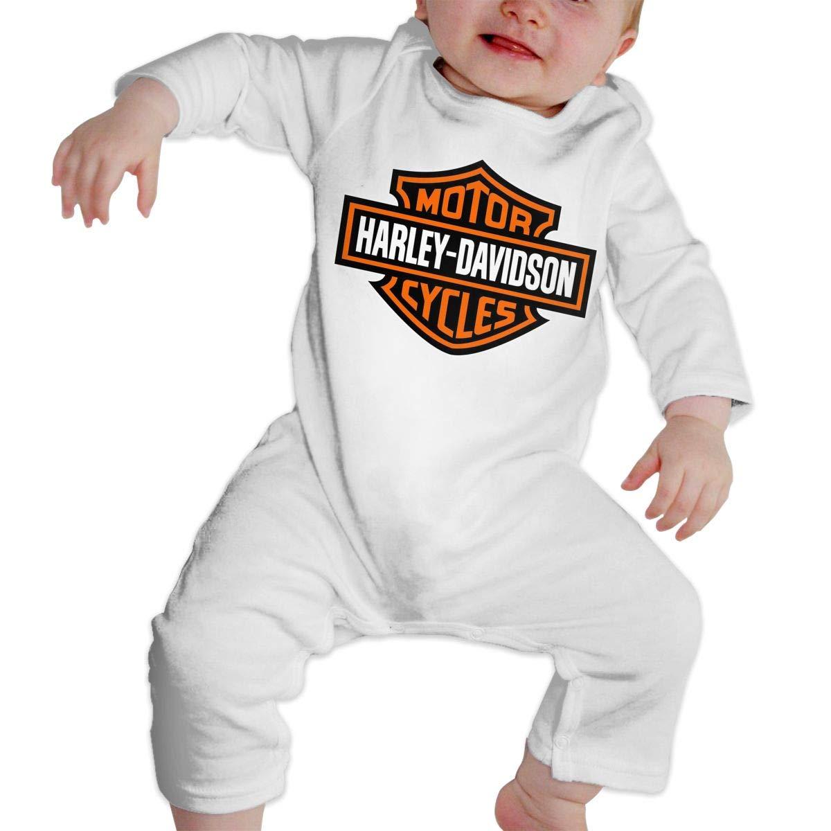 POOPEDD Harley?Davidson Unisex Baby Long Sleeve Onesies Infant Bodysuit Baby Onesie