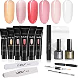 TOMICCA Poly Gel Polygel Nail Kit UV Builder Gel Nail Extension with Slip Solution Pen, Base Coat & Top Coat
