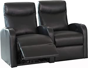 Octane Seating Black Octane Pilot XS750 Bonded Home Theater Seating (Set of 2)