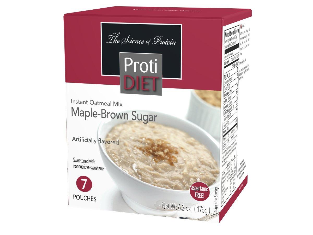 Protidiet - Maple-Brown Sugar Instant Oatmeal Mix, 7 pouches, 6.2 oz