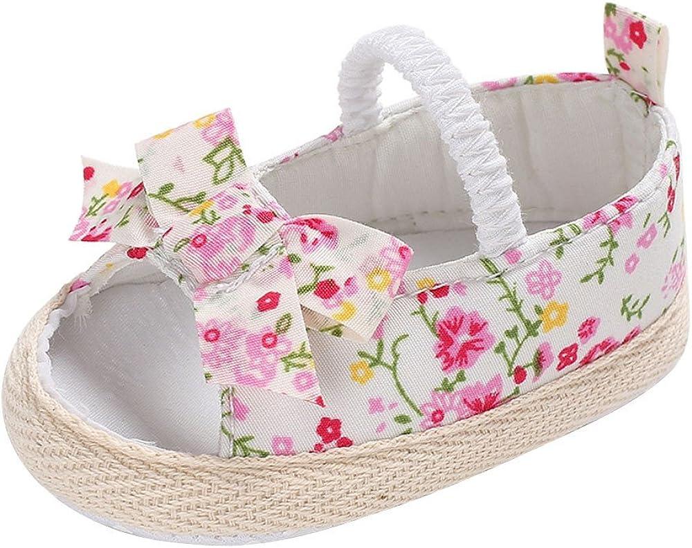PinkLu Zapatos Ni/ña Verano Linda beb/é Ni/ñas Rosa Floral Sandalias Zapatos de ni/ño Zapatos de Princesa C/ómodo Antideslizante(0-18 Meses)