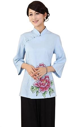 complet dans les spécifications bonne texture célèbre marque de designer XueXian(TM) Femme Rétro Vêtement Chinois Fleur Veste de Tang ...