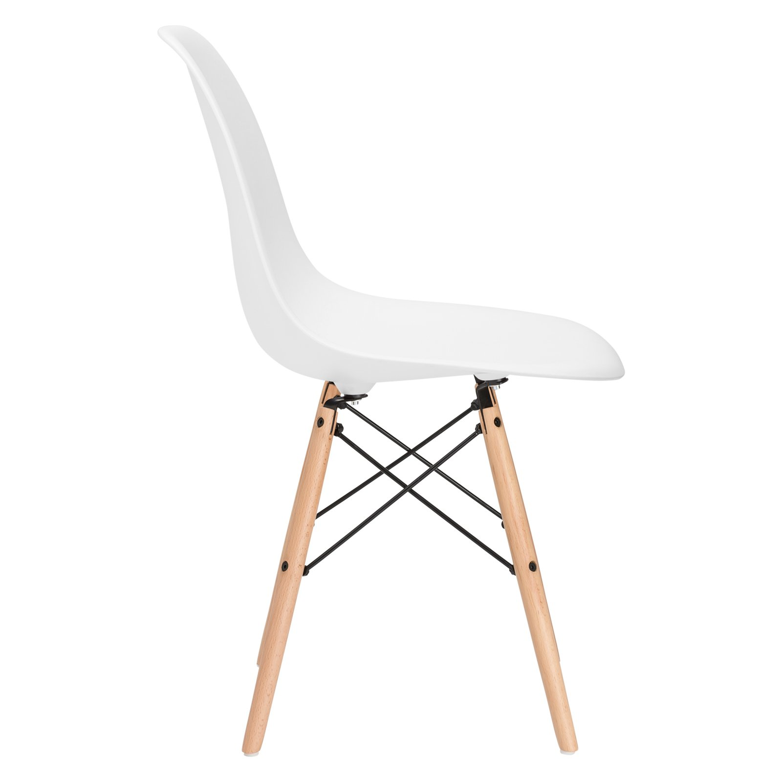 Poly and Bark Vortex Side Chair, White, Set of 2 by Poly and Bark (Image #4)