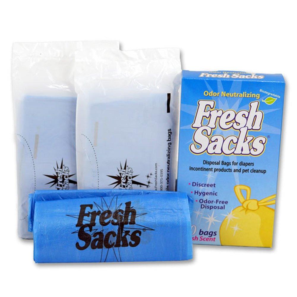 Fresh Sacks Biodegradable Diaper Disposal Bags, 50 ct