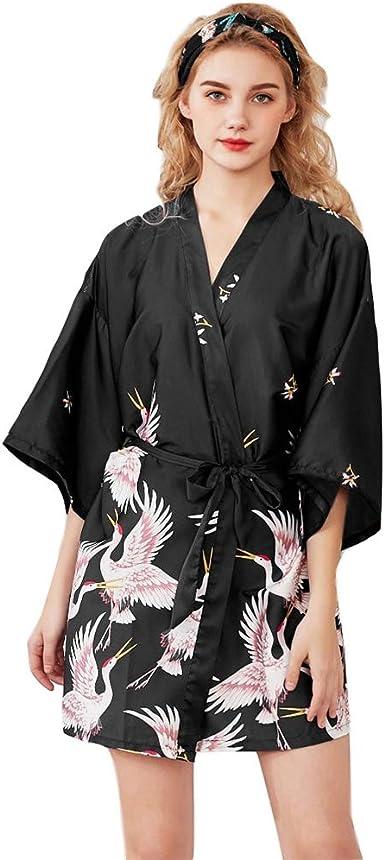 Batas de Mujer de Seda Kimono Japones Ropa de Dormir Verano ...