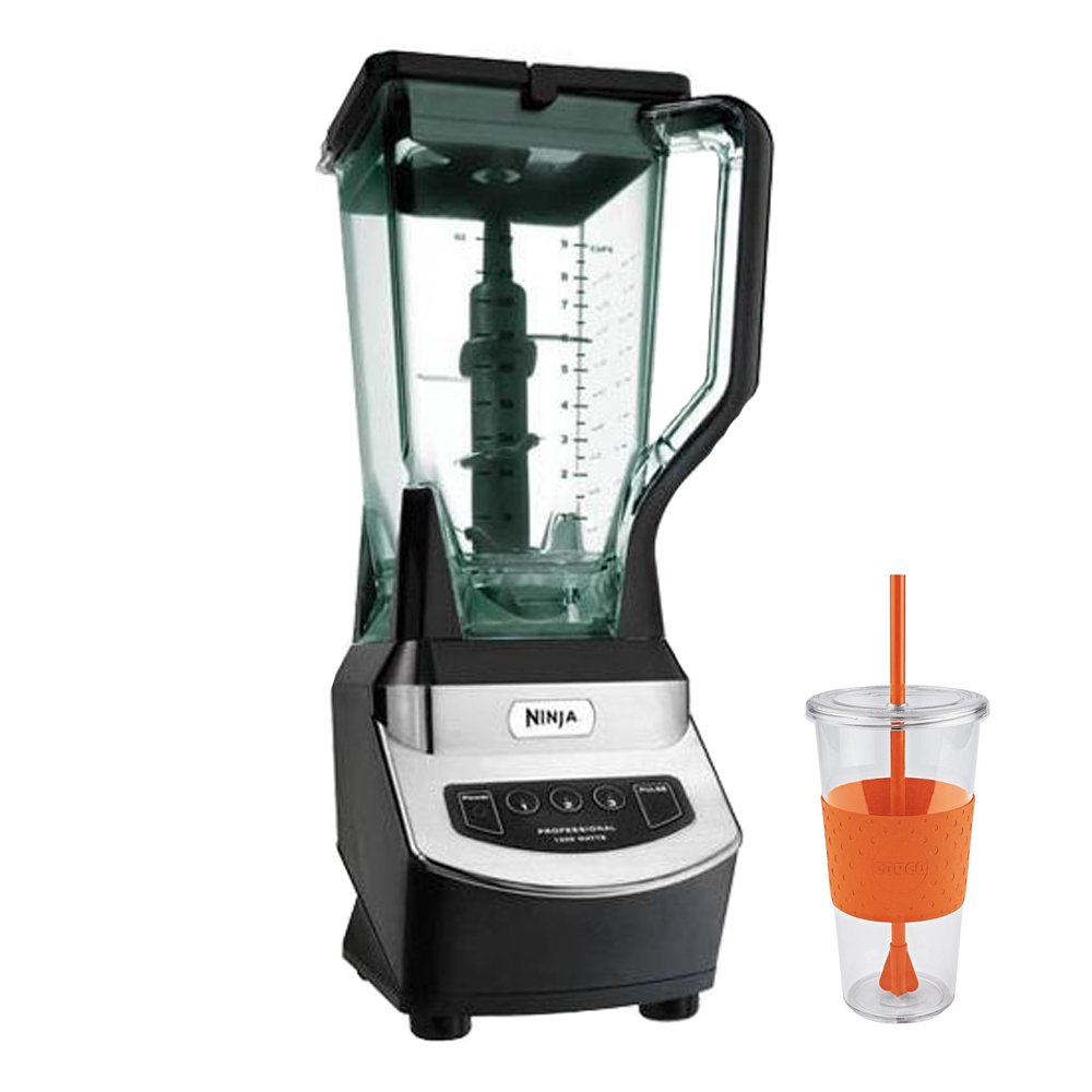Ninja NJ600 1000W Euro-Pro Blender with Copco Eco Tumbler