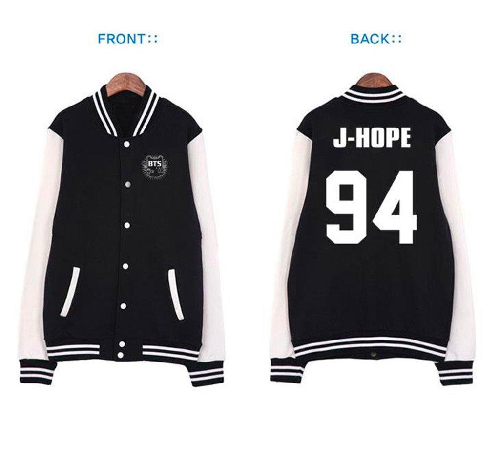 Fanstown BTS Bangtan Boy 公式同様野球パーカーセーター J-HOPE B00NQTV0WY 2XL|J-HOPE J-HOPE 2XL