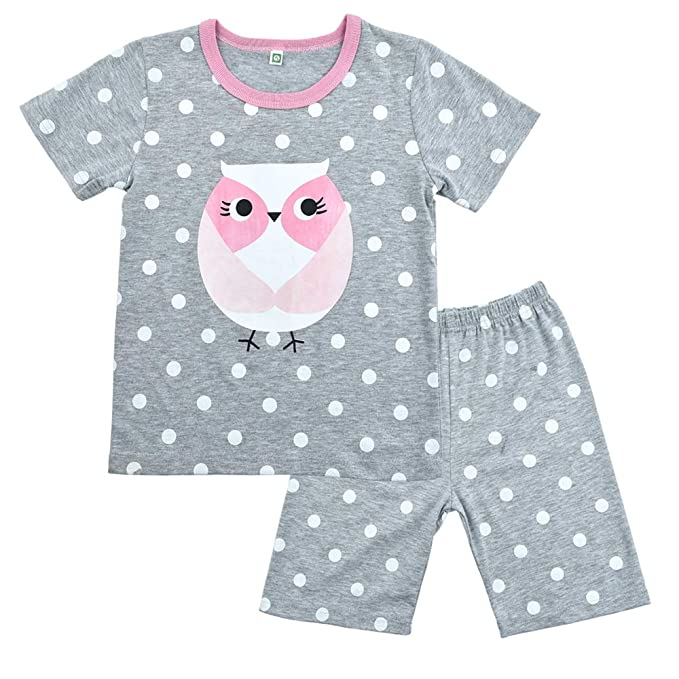 f988fc6b7 Girls Cute Owl Pyjamas Set Children Kids Long Sleeve 100% Cotton Pjs ...