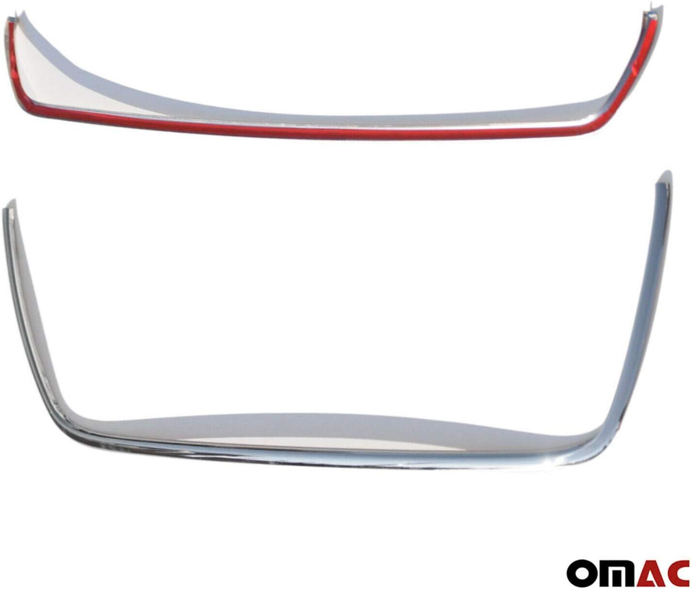 Cubierta para l/ámpara de niebla cromada de acero inoxidable 2 piezas para Ford Transit MK8 2014 en adelante