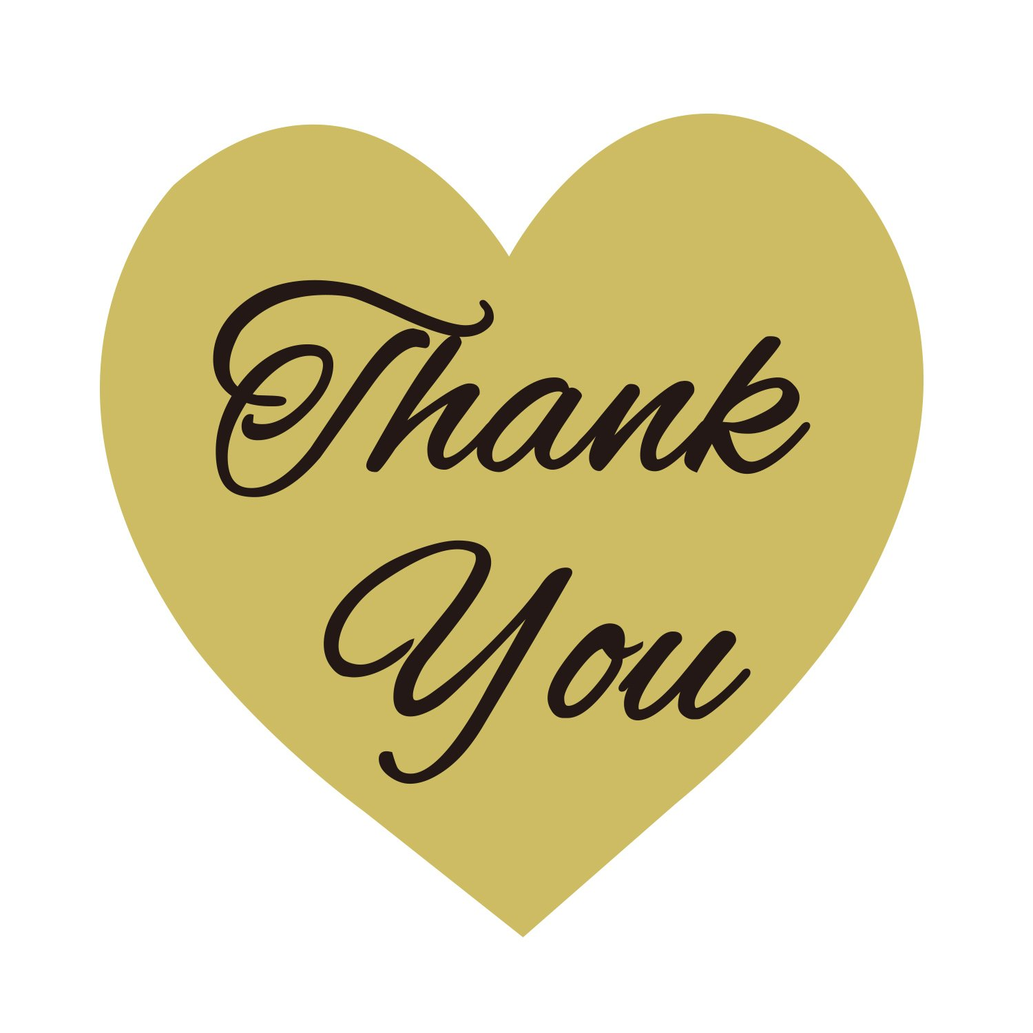 """1.5/"""" Heart Shaped Thank You Stickers 500 Stickers Heart Love Shape Paper Thank You Labels"""