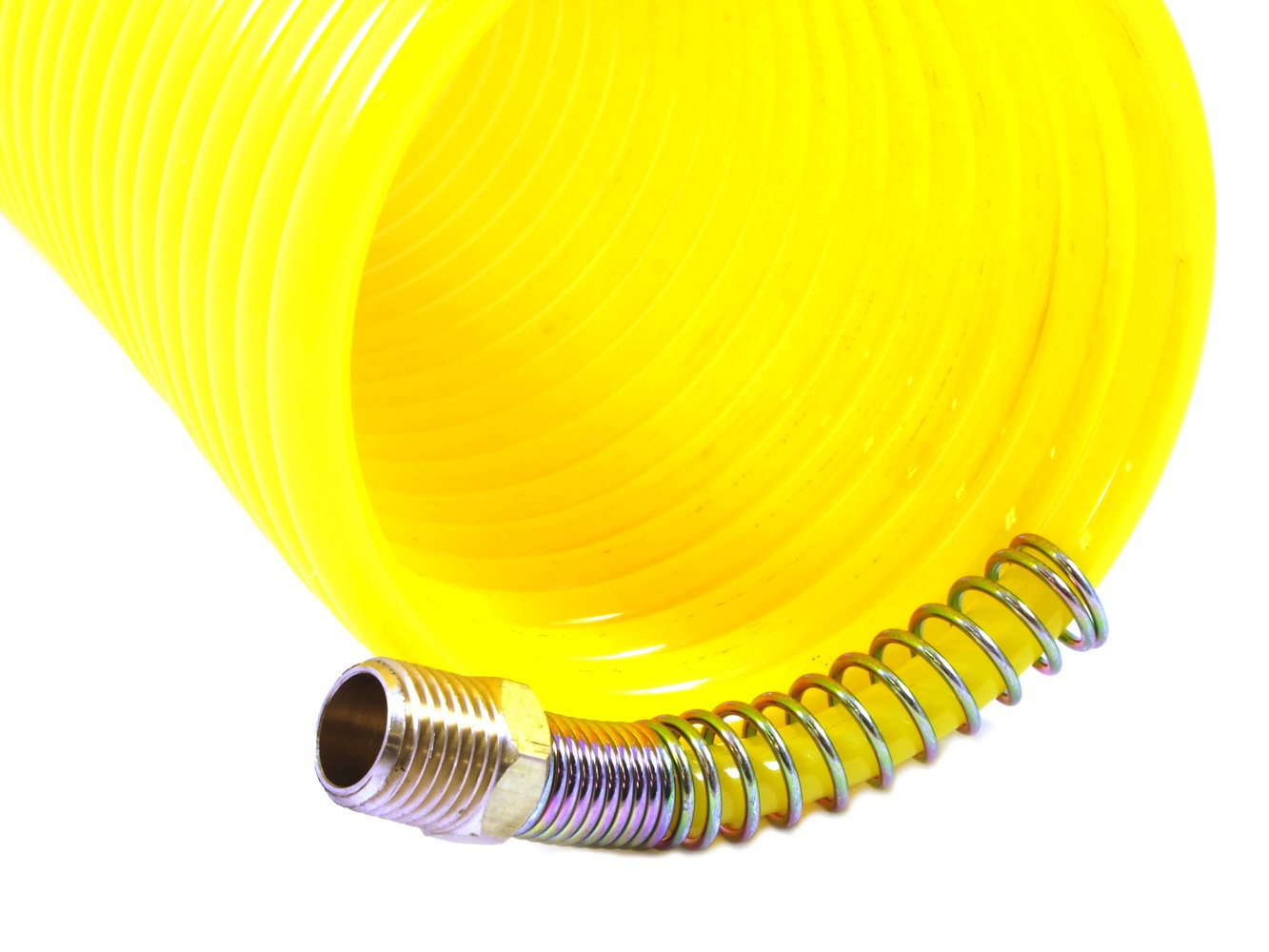 Forney 75418 Recoil Air Hose 1//4-Inch-by-25-Feet 1 Swivel End 200 PSI Forney Industries Yellow Nylon with 1//4-Inch Male NPT Fittings
