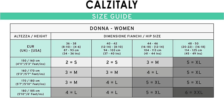 S 100 Den Nero M Shaper /& Push Up Calzetteria Italiana | L CALZITALY Calze Riposante E Modellante Collant Coprente Con Compressione Media Xl