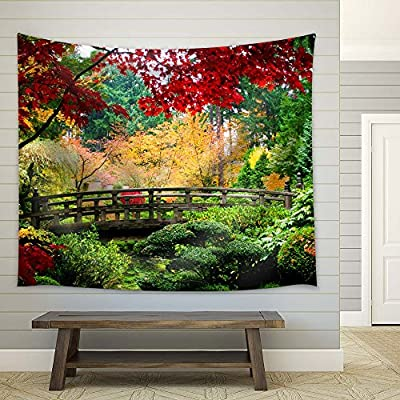 Magnificent Visual, Autumn Morning in a Garden with Maple Trees, Made With Top Quality