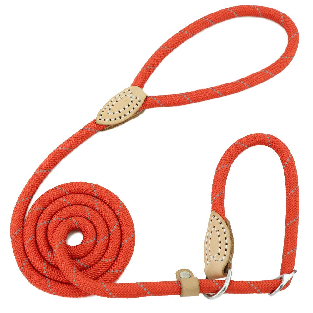 Red 3 5 in Diam X 5 ft Long Red 3 5 in Diam X 5 ft Long Grand Line Reflective Climbing Rope Slip Lead Pets Leash for Small, Medium, Large and Extra Heavy Dogs and Cats 5 Ft Long