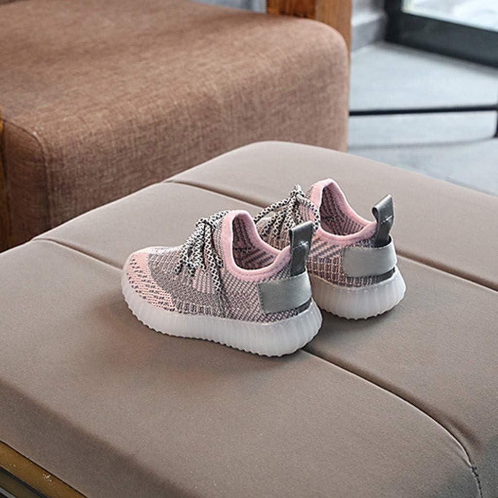 BingYELH Children Toddler Baby Girls Mesh LED Light Shoes for 1-6 Years Old Soft Kids Luminous Outdoor Sport Sneakers