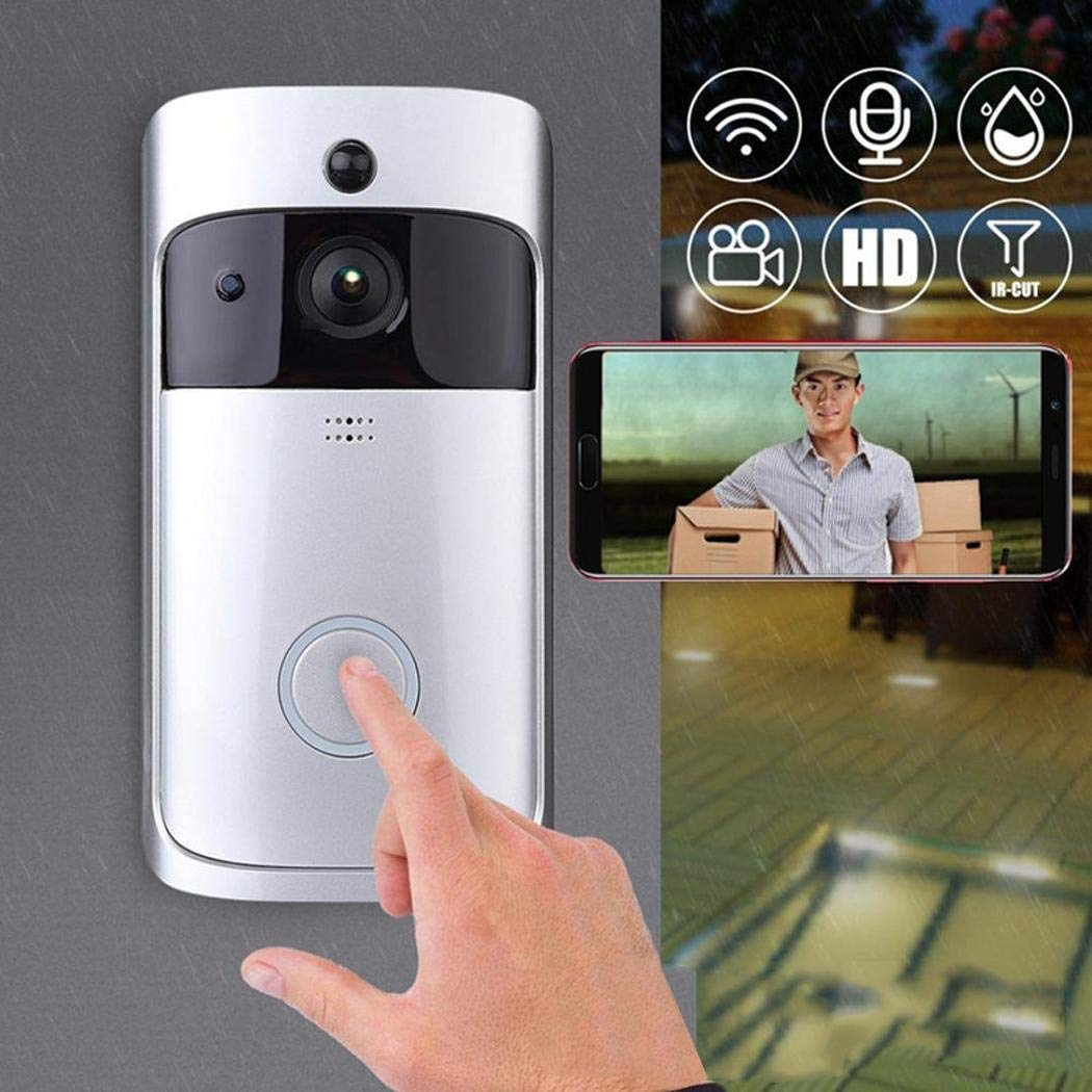 Kaimu Wireless Remote Home Monitoring RIP Motion Detection Smart WiFi Video Doorbell Kits