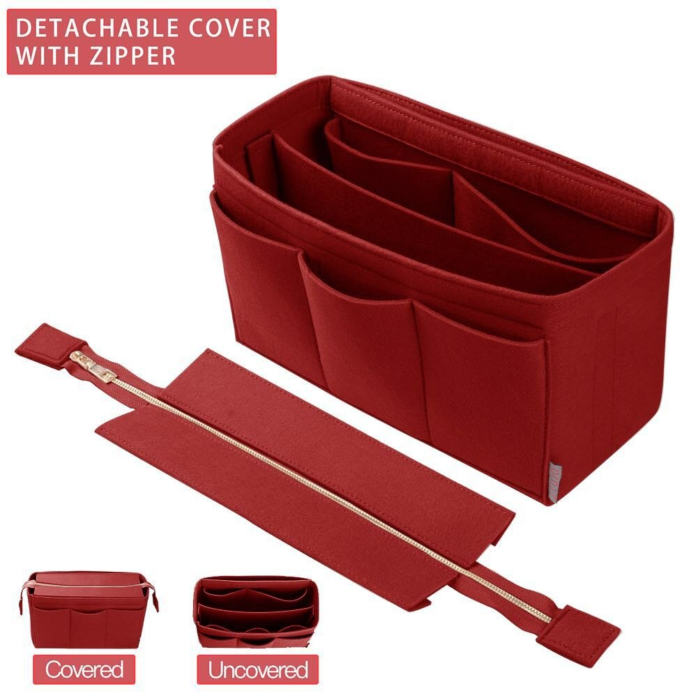 Purse Organizer Insert, Bag Organizer with For Tote and Handbag, LV, Goyard (X-Large, Red)