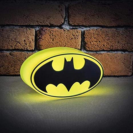 Dc Comics Mini Batman Logo Light Multi Colour Amazoncouk Lighting