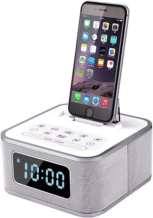 hll-036 Altavoces Bluetooth LED Cabecera Despertador con Radio FM ...