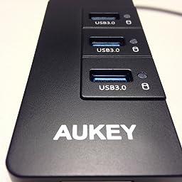 Aukey CB-H15 CB-H15 - Hub USB Ethernet con 3 puertos 3.0