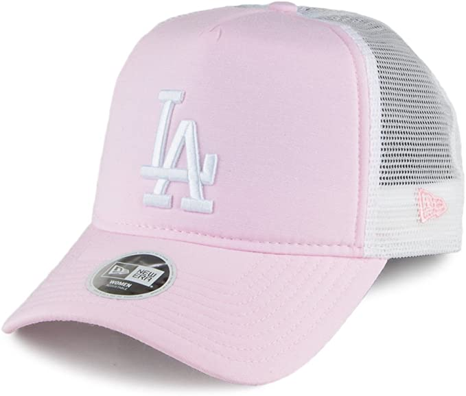 Gorra Trucker de mujer MLB Oxford L.A. Dodgers de New Era - Rosa ...