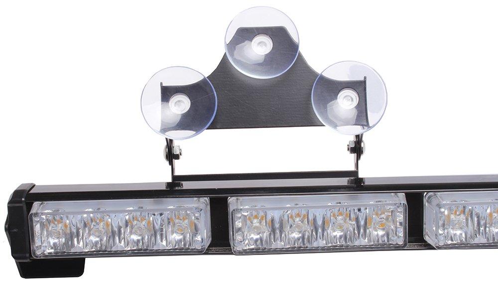 V-SEK 24 LED 27 Hazard Emergency Warning Tow Traffic Advisor Flash Strobe Directional Light Bar BL Factory White