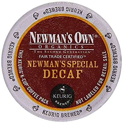 Keurig, Newman's Own Organics, Newman's Special Decaf, K-Cup Counts, 50 Count