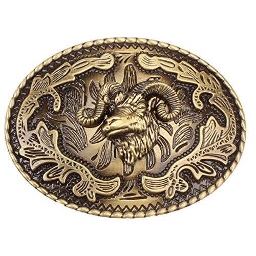 Seastone® Vintage Man's Belt Buckle in Goat Ram Head (FAGT-01) -
