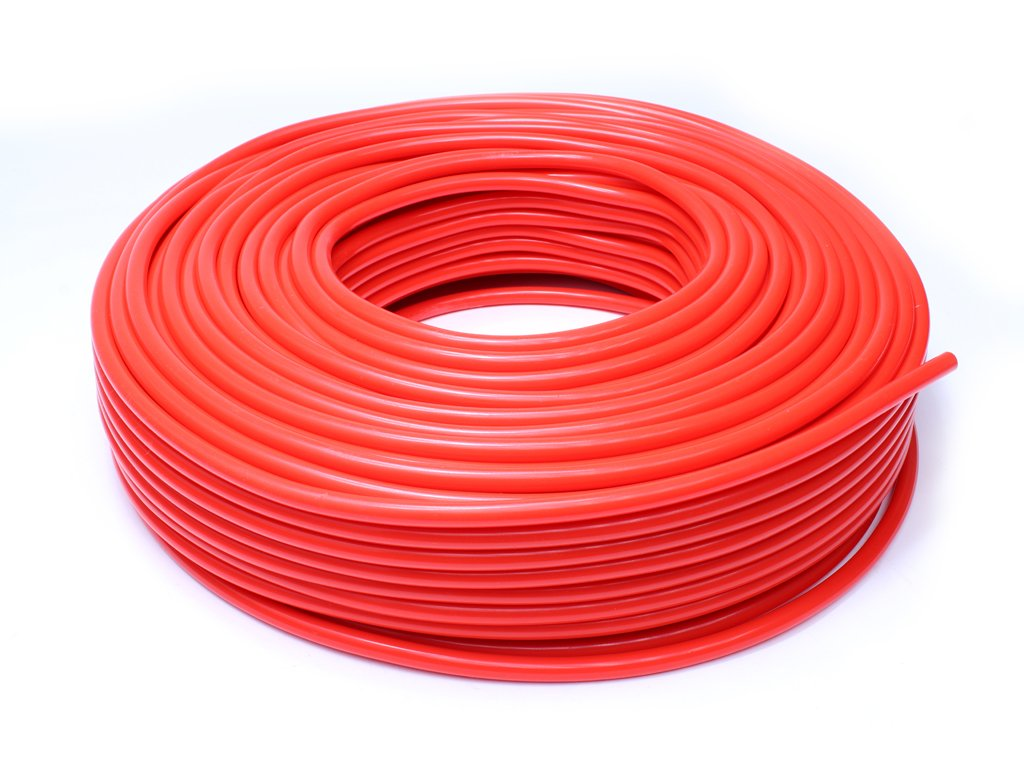 HPS HTSVH3-REDx50 Red 50' Length High Temperature Silicone Vacuum Tubing Hose (60 psi Maxium Pressure, 1/8'' ID) by HPS Performance