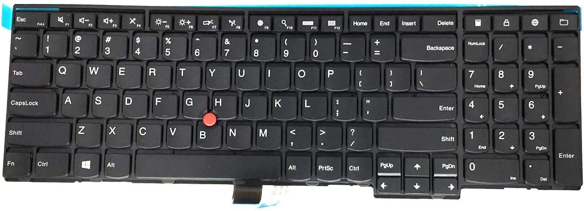 LeFix US Layout Replacement Keyboard Without Backlit for Lenovo thinkpad L540 T540p W540 T550 W550s W541 T560 P50s