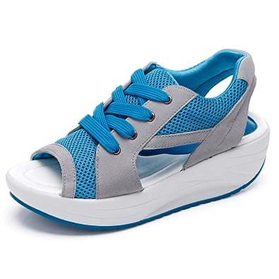 Solshine Damen Netz Atmungsaktiv Sandalen Turnschuhe Laufschuhe Offene  Zehen Sneakers: Amazon.de: Schuhe & Handtaschen