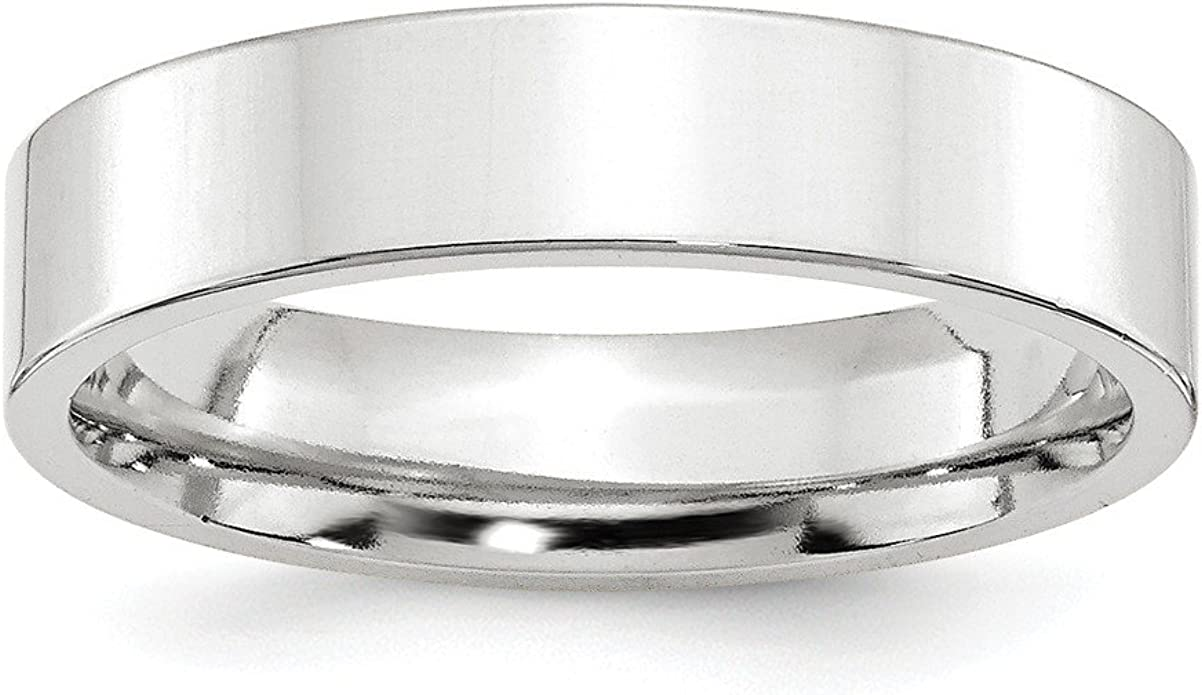 Sonia Jewels Titanium Flat 8mm Laser Design Polished Wedding Band