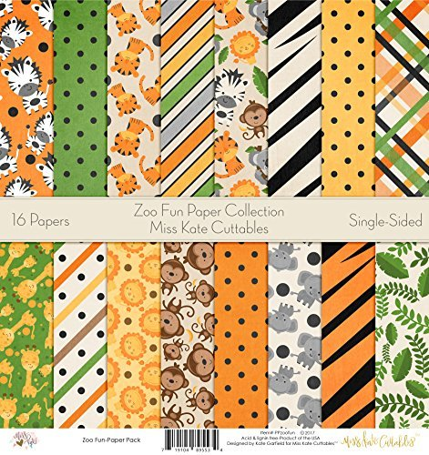 (Pattern Paper Pack - Zoo Fun - Scrapbook Premium Specialty Paper Single-Sided 12