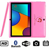 "60% OFF 7"" Bluetooth HD Quad Core 1024X600 Tablet PC Actions 7031 Cortex A9 CPU Android 4.4.2 KitKat 512MB RAM 4GB FLASH Dual Camera BBC Iplayer Google Play Store WiFi Support Netflix 3D Games Flash Skype (Pink)"