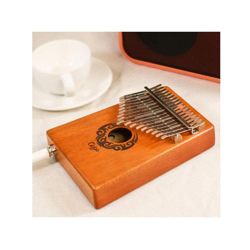 Youshangshipin Kalimba, 17-tone Kalimba Thumb Piano, A Beginner Student Professional Performance Gift Universal, (style 1, Piano Bag + Cable + Tuning Hammer + Piano Cloth) (Edition : Style 3)