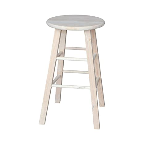 Amazoncom International Concepts 1s 530 30 Inch Round Top Stool